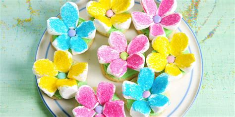 marshmallow flower cookies cupcakes recipe violet