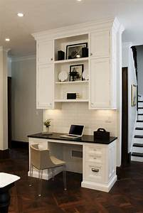 best 25 built in desk ideas on pinterest home office With kitchen colors with white cabinets with putting stickers on laptop