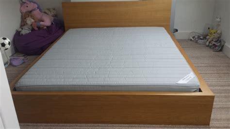 Ikea Malm King Size Headboard by Ikea Malm King Size Bed In Oak For Sale In Clontarf