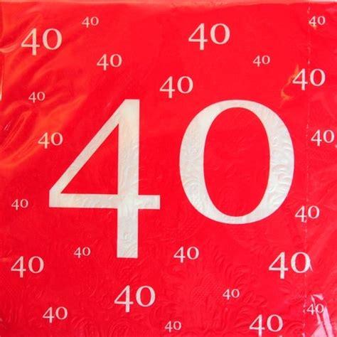 ballonsupermarkt onlineshop de servietten zum 40 jubil 228 um geburtstag jahrestag