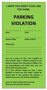 Report Formats Word Parking Ticket Template