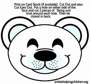 free coloring pages of polar bear mask With polar bear face template