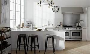 murs cuisine gris perle chaioscom With murs cuisine gris perle