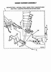 Burner Assembly Diagram  U0026 Parts List For Model 11078932792