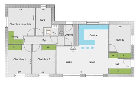 plan maison 3 chambres 1 bureau plan de maison 3 chambre 1 bureau