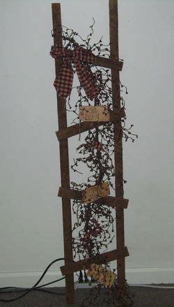 Best Primitive Ladder Ideas Images Pinterest