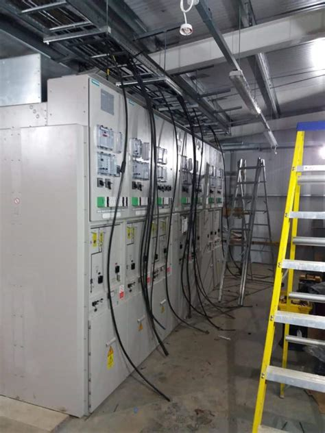 kv switchgear panels installed siemens nxplus gis gas insulated switchgear power  cables