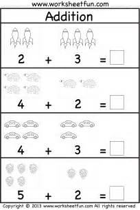 Math Worksheets Free Picture Addition Beginner Addition Kindergarten Addition 5 Worksheets Free Printable