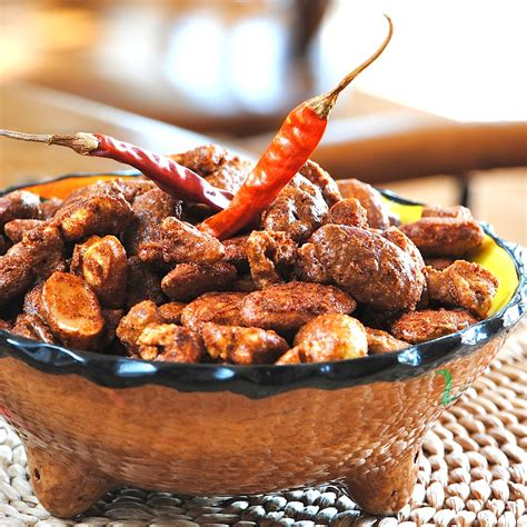 cuisine spicy jules food spicy glazed nuts