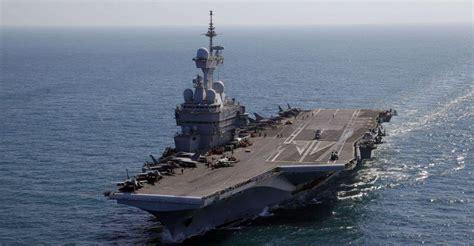 marine nationale le porte avions charles de gaulle en