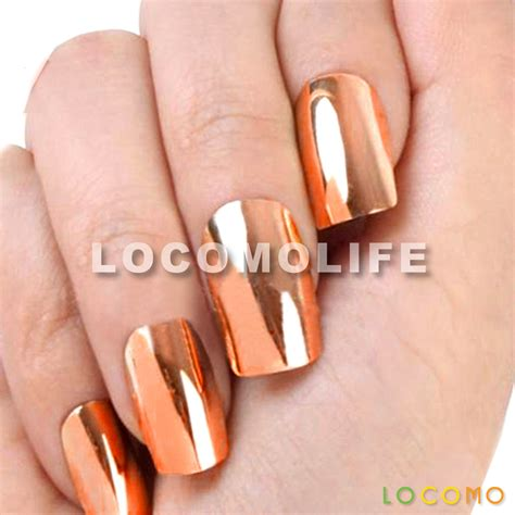 color acrylic nails metallic color acrylic false nail tip bronze