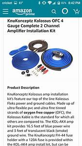 Rockford Fosgate Amp Wiring Kit