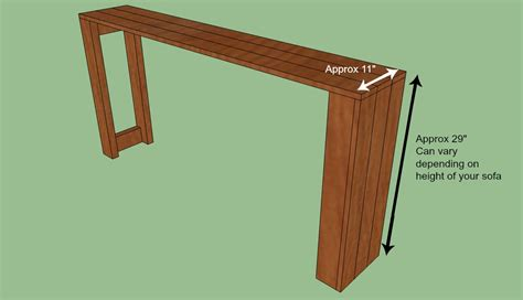 Woodwork Sofa Table Plans Diy Pdf Plans
