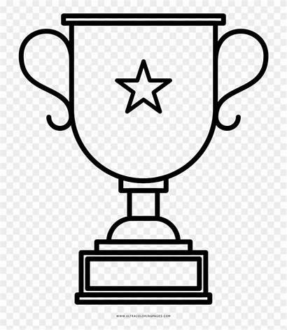 Trophy Coloring Dad Trofeos Dibujar Para Award