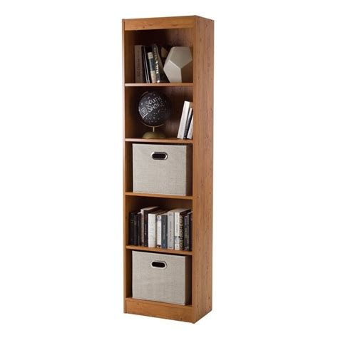 south shore 5 shelf bookcase south shore axess 5 shelf narrow bookcase in country pine
