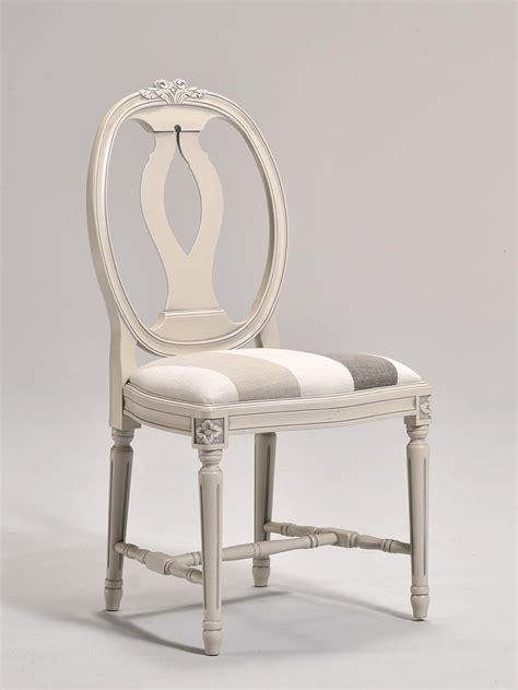 sedie stile classico sedia in stile gustaviano con schienale ovale idfdesign