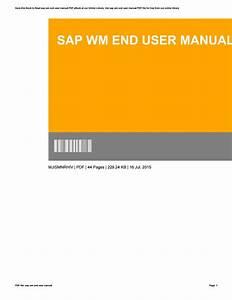 Sap Wm End User Manual By Donaldmata3033