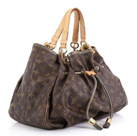 louis vuitton irene handbag limited edition monogram brown canvas hobo bag tradesy