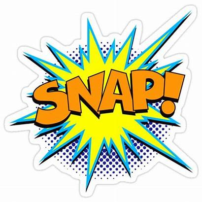 Superhero Word Snap Comic Funny Stickers Sticker