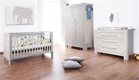 ensemble chambre bébé lit bébé évolutif et commode à langer somnio gris cendre