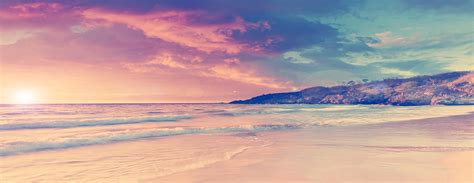 romantic sunset beach background poster banner romantic
