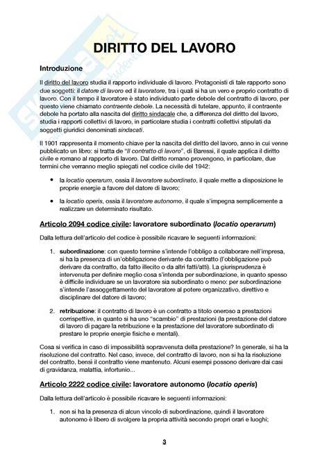 Dispensa Diritto Lavoro by Appunti Diritto Lavoro