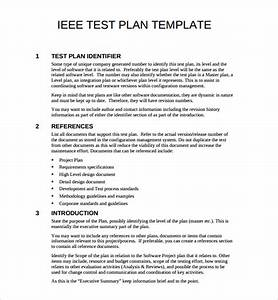 sample test plan With ieee 829 test strategy template