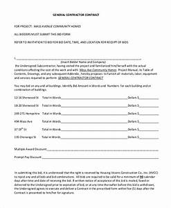 sample contractor contract form 7 free documents in pdf With general contractors contract template