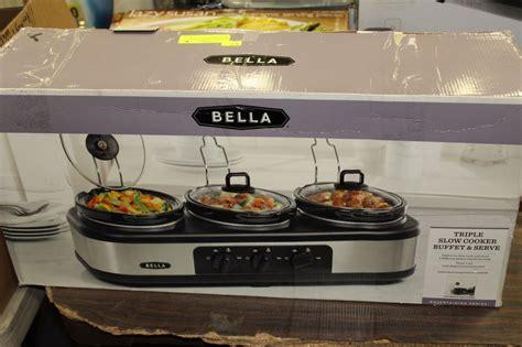 Bella Triple Slow Cooker Buffet Server