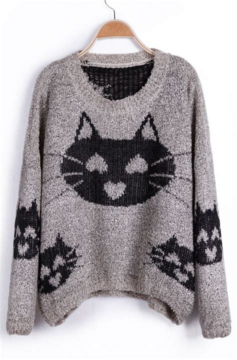 cat sweaters for cats cat pattern sweater hearts adorn