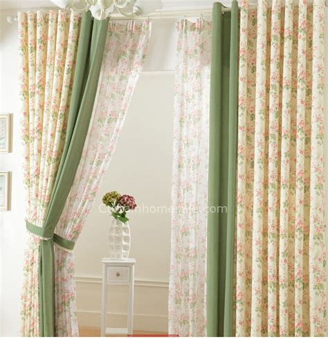 stunning living room floral drapes and printed curtains on