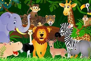 Jungle Animals Background 1 HD Wallpapers | para los niños ...