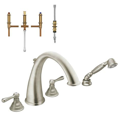 MOEN Kingsley 2 Handle Deck Mount High Arc Roman Tub