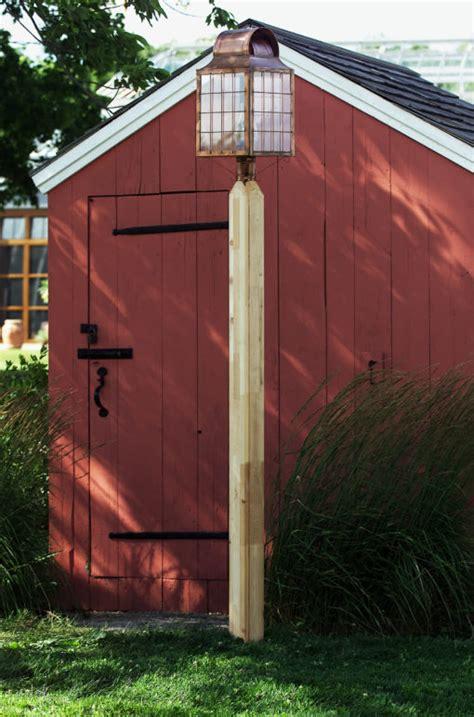 wooden lamp posts residential wood cedar rustic lantern