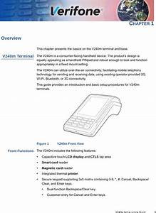 Verifone V240mplus Point Of Sales Terminal User Manual