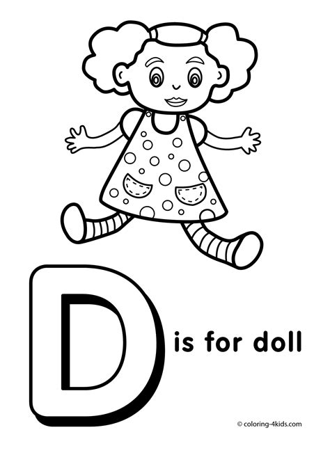 Coloring Letters by Letter D Coloring Pages To And Print For Free