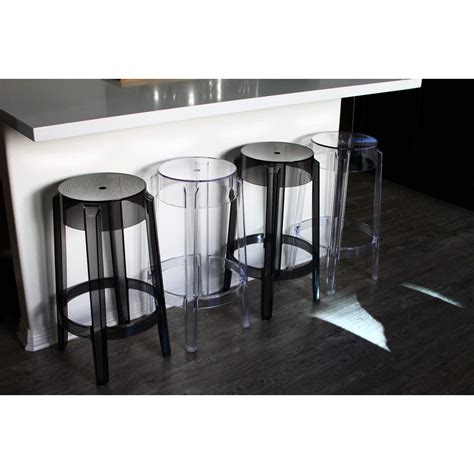 set of 2 style ghost counter stool clear color