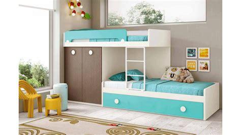 chambre avec lit superposé lit superposé enfant avec lit gigogne glicerio so nuit