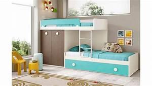 Lit superpose enfant avec lit gigogne glicerio so nuit for Luminaire chambre enfant avec matelas dunlopillo bz