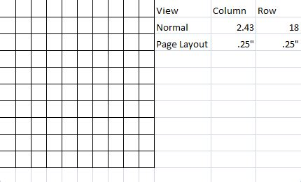 windows    cells perfect squares  excel