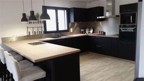 cuisine chene plan de travail noir lille menagefr maison
