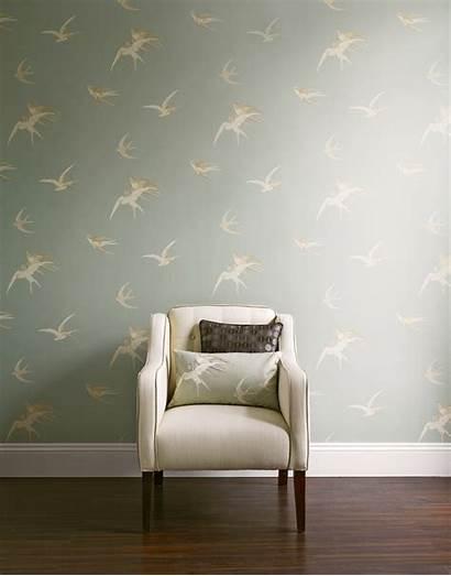Sanderson Swallows Retro Bird Wallpapers Slide Sandersons