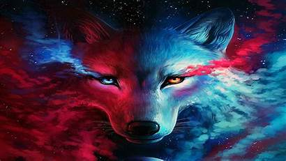 Galaxy Wolf Wolves Anime Backgrounds Wallpapers