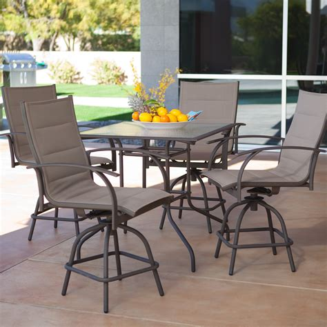 Patio Table Set by Bar Height Patio Table Set Looking Bistro Patio