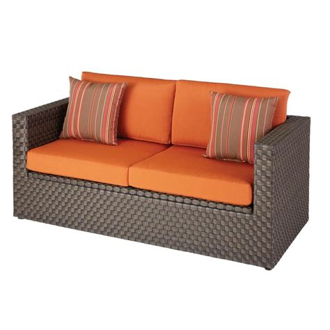 Patio Loveseat Cushion by Hton Bay Moreno Valley Patio Loveseat With Sunbrella