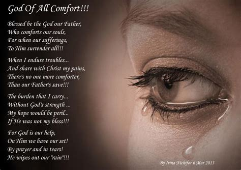 god is my comfort god of all comfort spiritual poetry