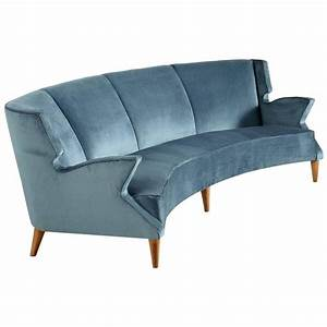 large italian four seat curved sofa for sale at 1stdibs With large italian sectional sofa