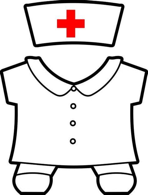 printable community helpers buddies paper dolls 566 | helpers nurse color