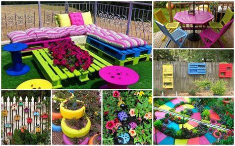 colorful decorations     garden   fun