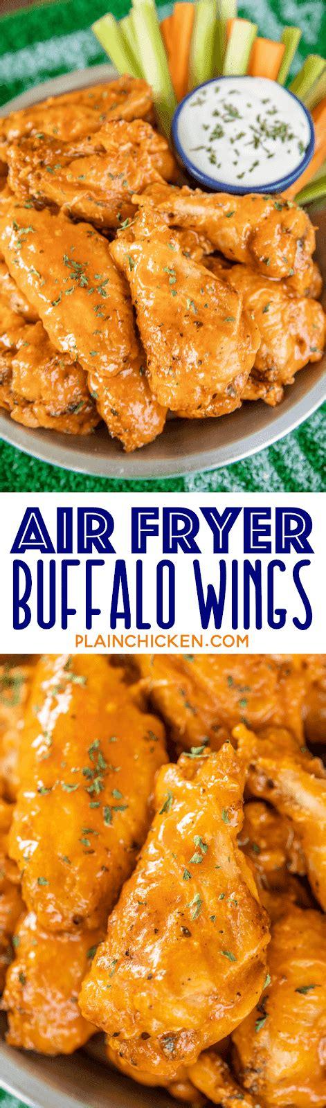 air wings fryer chicken buffalo powder baking plain recipe crispy